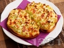Рецепта Запечен сандвич със зелени чушки, сирене и яйца